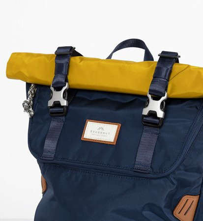 Plecak Doughnut Christopher Glossy Blocking Series Navy x Mastard