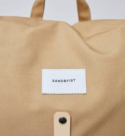 Plecak Sandqvist Roald Beige/Natural Leather
