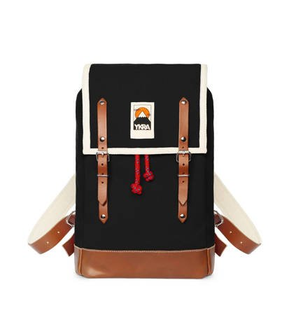 Plecak Ykra Matra Mini Leather Natural Black