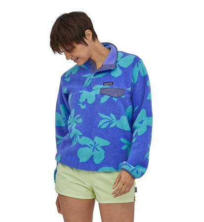 Polar Damski Patagonia Lightweight Synchilla Snap-T P/O Kalani Big: Float Blue