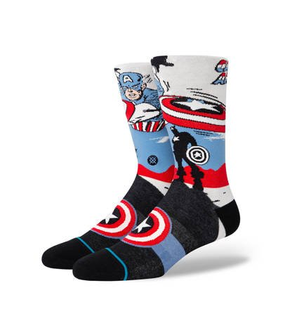 Skarpety Stance U Captain America Marquee Off White