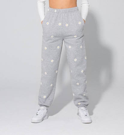 Spodnie Damskie Local Heroes Daisy Printed Sweatpants Grey
