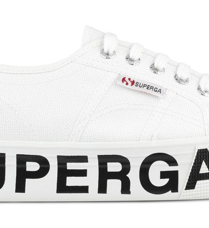 Tenisówki Damskie Superga 2790 Cotw Outsole Lettering White