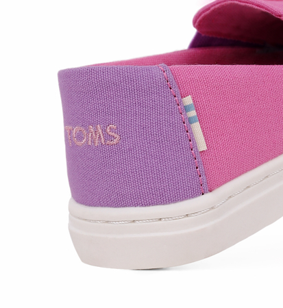 "Toms Abby Face Canvas Kid""S Luca Slipon Pink"