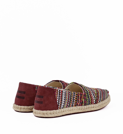 "Toms Global Woven On Rope Women""S Alpargata Cherry Tomato"