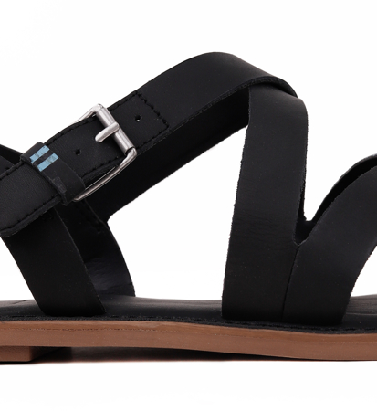 "Toms Leather Women""s Sicily Black"