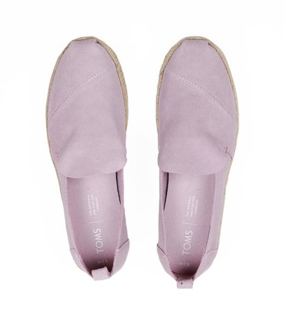 "Toms Suede Women""S Deconstructed Alpargata Burnished Lilac Suede"