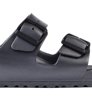 Birkenstock Arizona EVA Metallic Anthracite Narrow Damskie-4