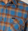 Brixton Bowery Flannel River Blue-2