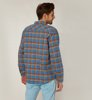 Brixton Bowery Flannel River Blue-3