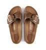 Klapki Damskie Birkenstock Madrid Big Buckle FL Cognac HEX Narrow-3