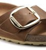Klapki Damskie Birkenstock Madrid Big Buckle FL Cognac HEX Narrow-4