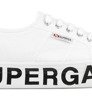 Tenisówki Damskie Superga 2790 Cotw Outsole Lettering White-5
